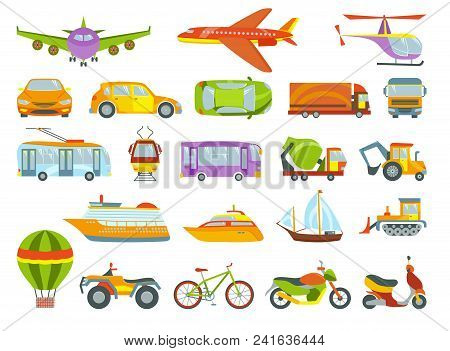 Urban Transport Colored Vector Illustration. City Transportation And Transporter Isolated On White B