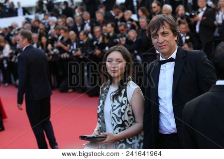 Director Sergei Dvortsevoy and actress Samal Yeslyamova attend Closing Ceremony during the 71st  Cannes Film Festival at Palais des Festivals on May 19, 2018 in Cannes, France.