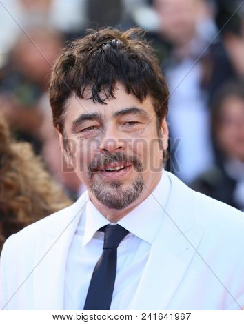 Benicio Del Toro attends Closing Ceremony during the 71st  Cannes Film Festival at Palais des Festivals on May 19, 2018 in Cannes, France.