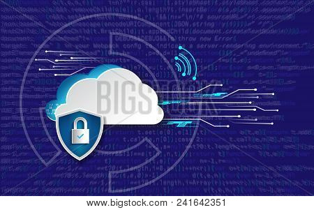 Protection Concept. Protect Mechanism, System Privacy. Vector Illustration. General Data Protection