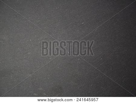 Dark Grey Black Slate Background Or Texture Natural Light Selective Focus