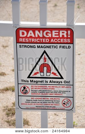Danger Restricted Access