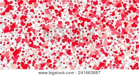 4644658 Heart Of Confetti Falls On The Background.