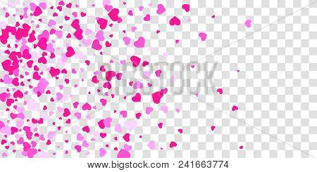 4644655 Heart Of Confetti Falls On The Background.