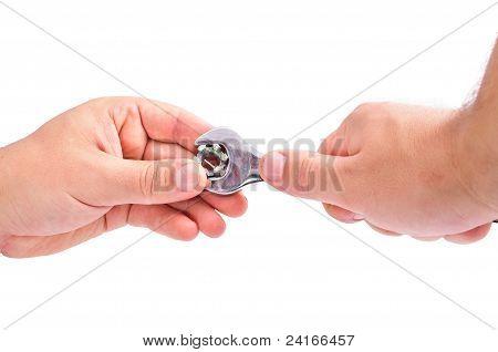The Hand With The Wrench