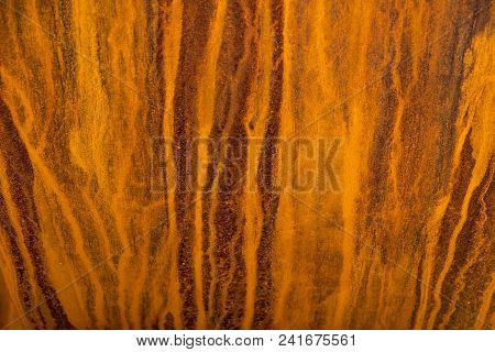 Heavily Rusted Lines On A Metal Surface