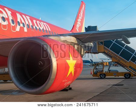 Ho Chi Minh City, Vietnam - May 16, 2018: Established In 2011, Budget Airline Vietjet Air Has Alread