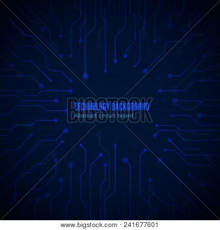 Circuit Hardware Texture. Computer Chipset Connection. Concept Of Circuit Board Background. Vector I