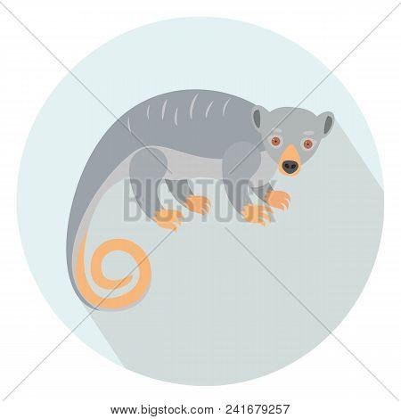 Cute Couscous On Blue Background. Vector Illustration.