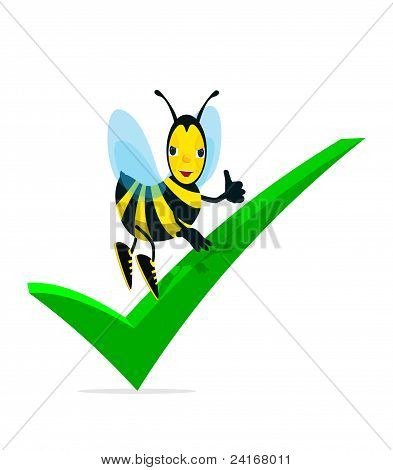 Bee And Check Mark