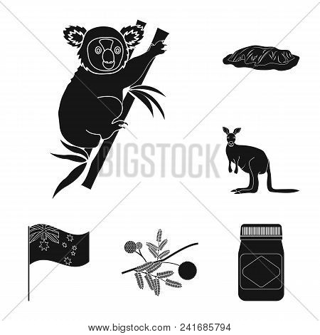Country Australia Black Icons In Set Collection For Design.travel And Attractions Vector Symbol Stoc