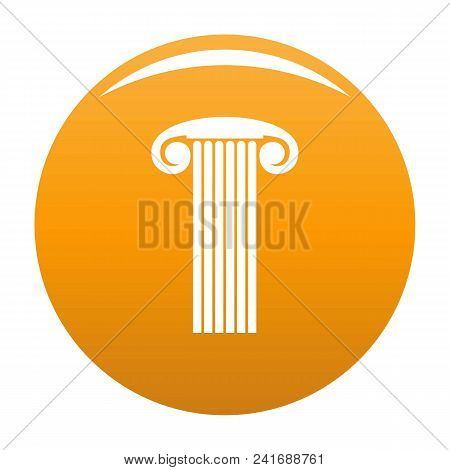 Marble Column Icon. Simple Illustration Of Marble Column Vector Icon For Any Design Orange
