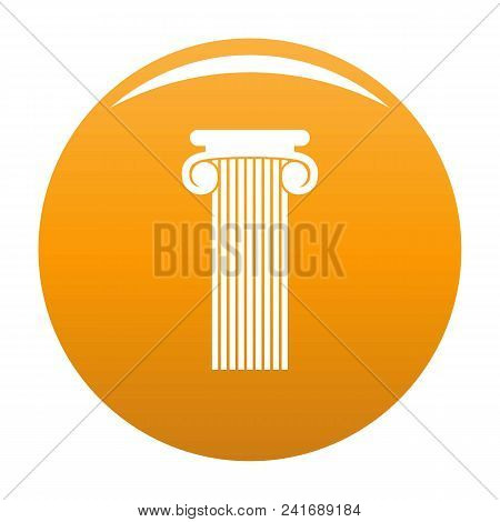 Roman Column Icon. Simple Illustration Of Roman Column Vector Icon For Any Design Orange