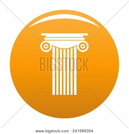 Reinforced Concrete Column Icon. Simple Illustration Of Reinforced Concrete Column Vector Icon For A
