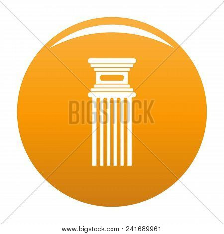 Antique Column Icon. Simple Illustration Of Antique Column Vector Icon For Any Design Orange