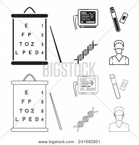 Musical Instrument Black, Outline Icons In Set Collection For Design. String And Wind Instrument Iso
