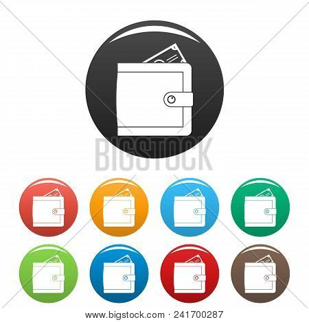 Purse Pay Icon. Simple Illustration Of Purse Pay Vector Icons Set Color Isolated On White