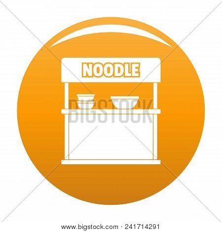 Noodle Selling Icon. Simple Illustration Of Noodle Selling Vector Icon For Any Design Orange