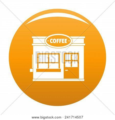 Coffee Trade Icon. Simple Illustration Of Coffee Trade Vector Icon For Any Design Orange