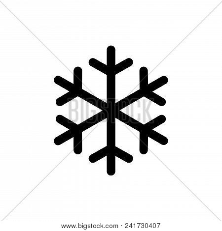 Snowflake Icon Vector In Modern Flat Style For Web, Graphic And Mobile Design. Snowflake Icon Vector