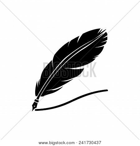 Quill Icon Vector In Modern Flat Style For Web, Graphic And Mobile Design. Quill Icon Vector Isolate