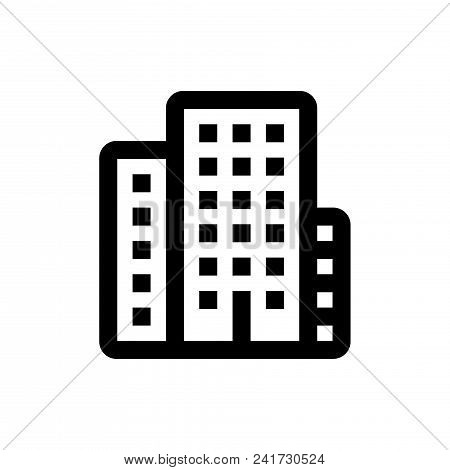 City Icon Vector In Modern Flat Style For Web, Graphic And Mobile Design. City Icon Vector Isolated