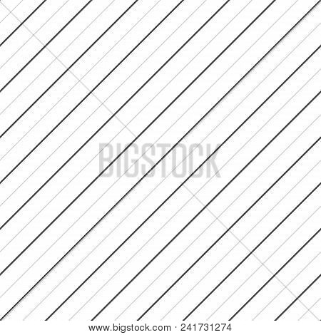 Vector Stripes Seamless Pattern. Thin Diagonal Lines Texture, 45 Degrees Inclination. Subtle Abstrac