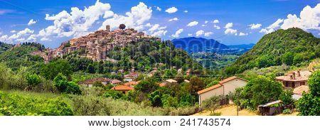 Traditional medieval hill top villages of Italy - scenic borgo Casperia, Rieti province