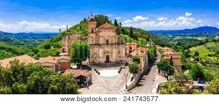 Traditional medieval villages of Italy - scenic borgo Casperia, rieti province