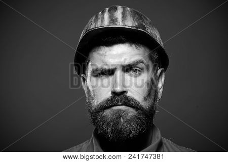 Business, Building, Industry, Technology - Builder Concept. Hard Work. Industrial Worker.
