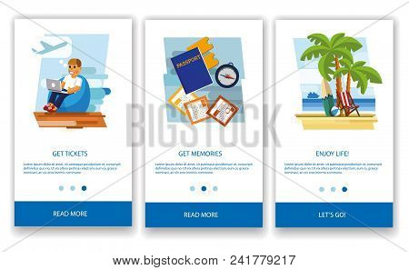 Tourism Concept. Tourism Concept For Mobile Apps. The Concept Of A Tourist Mobile Application. Moder