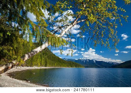 Beautiful Slocan Lake In Interior British Columbia, Canada Near The Town Of New Denver