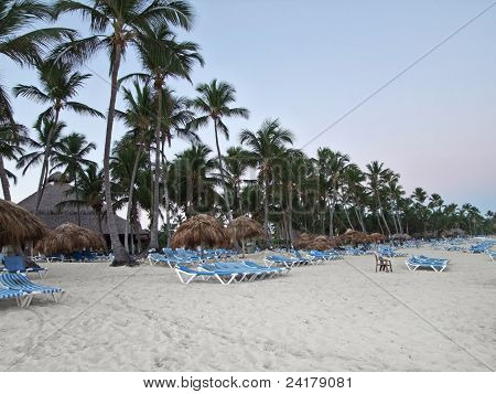 Beach Scenery At Evening Time