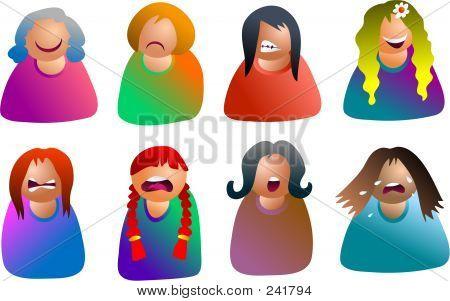 Female Emoticons