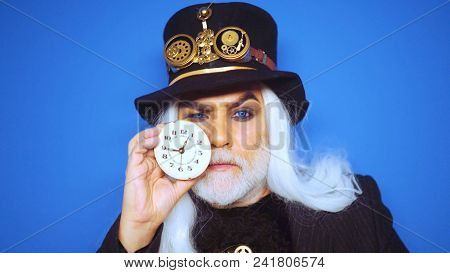 Watchmaker, Time Keeper, Time Line. Time Wizard. Old Man With Watch. Time Is Money.