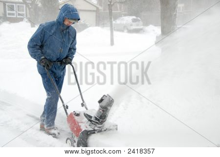 Man With A Snowblower