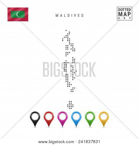 Dotted Map Maldives. Vector & Photo (Free Trial) | Bigstock