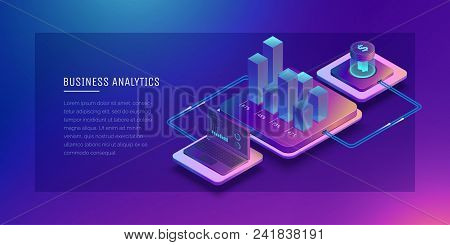 Digital Technologies In Business. Digital System Analysis Of Business. Business Growth Graph. Online