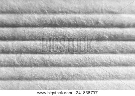 Embossed White Paper Texture. Soft Folds On Detailed Macro Paper Background.