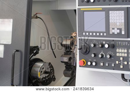 control panel of computerized numerical control metalworking machine