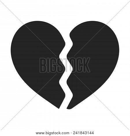 broken heart icon vector photo free trial bigstock