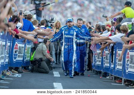 May 19, 2018 - Concord, North Carolina, USA: Ricky Stenhouse, Jr (17) gets introduced for the Monster Energy All-Star Race at Charlotte Motor Speedway in Concord, North Carolina.