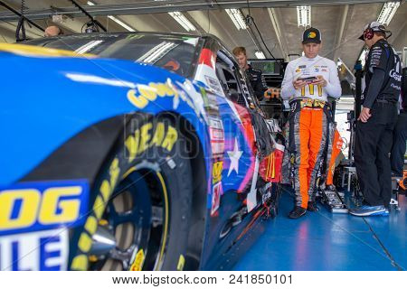 May 19, 2018 - Concord, North Carolina, USA: Jamie McMurray (1) gets ready for the final practice for the Monster Energy Open at Charlotte Motor Speedway in Concord, North Carolina.