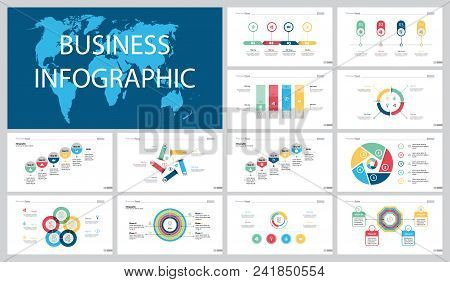 Colorful Economy Or Finance Concept Infographic Charts Set. Business Design Elements For Presentatio