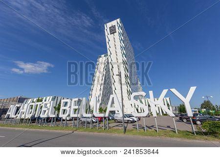 Copenhagen, Denmark - May 22, 2018: Ac Bella Sky Hotel, Convention And Congress Center In Orestad Di