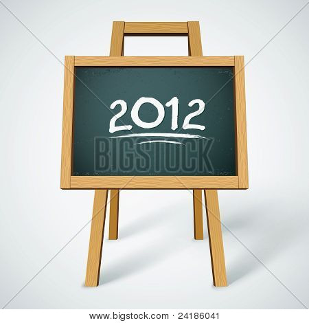 2012 on class chalkboard vector background