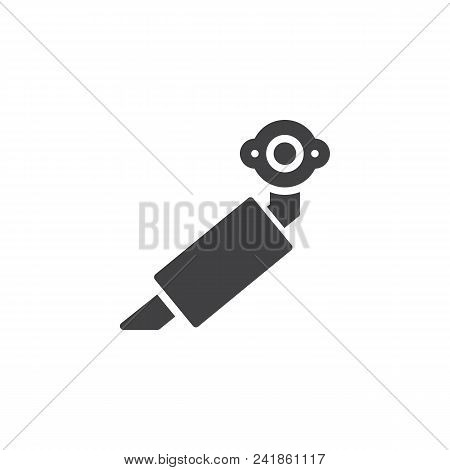 Car Exhaust Pipe Vector Icon. Filled Flat Sign For Mobile Concept And Web Design. Car Muffler Simple