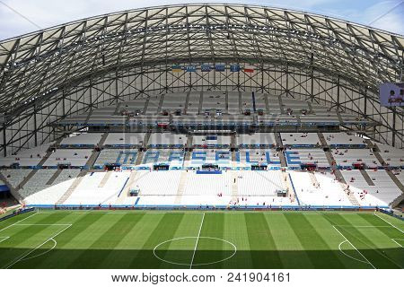 Marseille, France - June 21, 2016: Panoramic View Of Stade Velodrome Stadium During The Uefa Euro 20