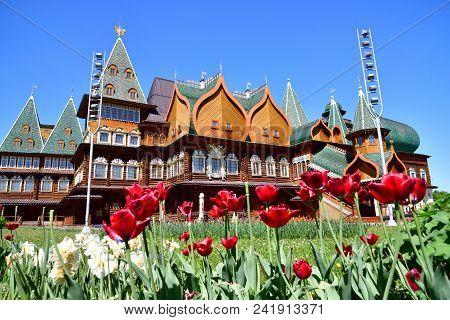 Moscow, Russia - May 22. 2018. The Palace Of Tsar Alexei Mikhailovich In Kolomenskoye