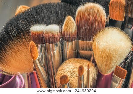 Professional Makeup Brushes In Tube.